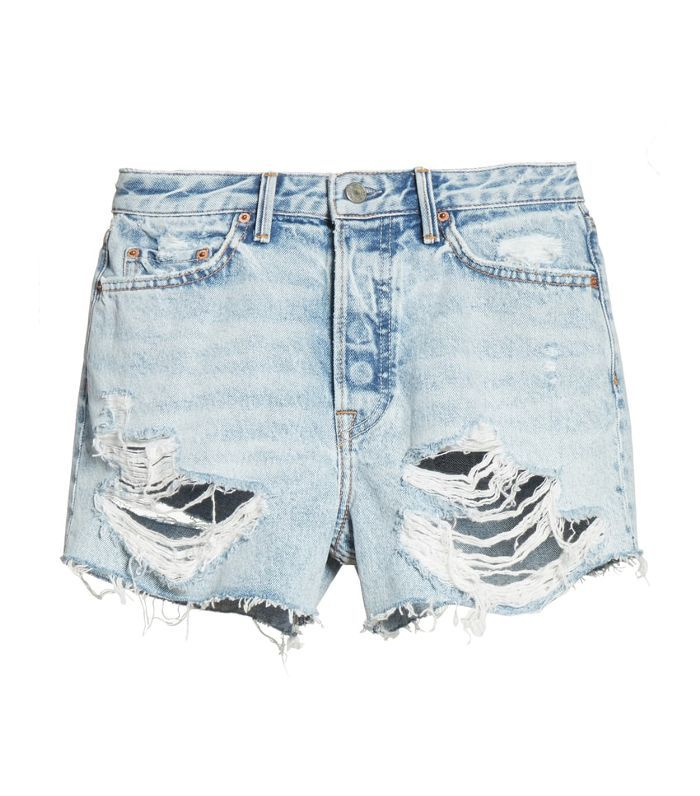 Women's Grlfrnd Helena Ripped Denim Shorts