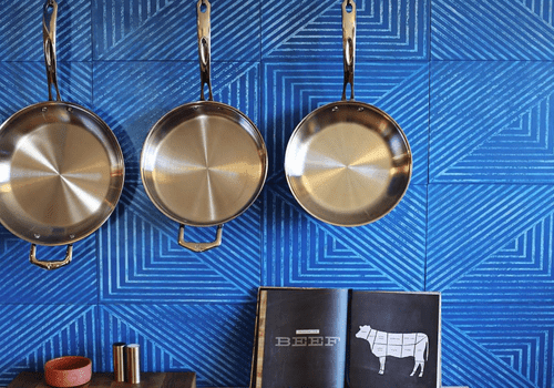 how to clean a burnt pot - clean pots and pans hanging in kitchen