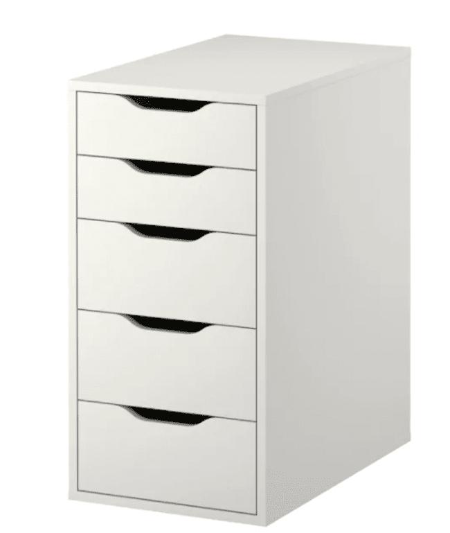 White filing cabinet