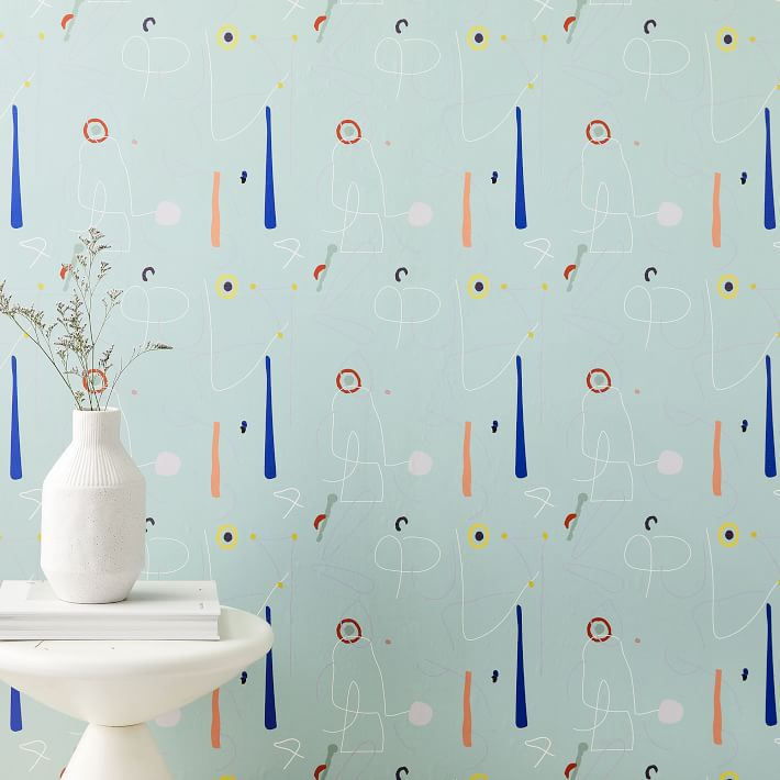 Abstract wallpaper covering a wall