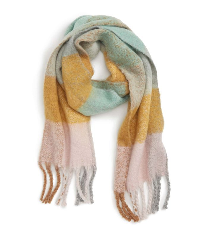 Heavy Gingham Scarf Travel Delay Protection