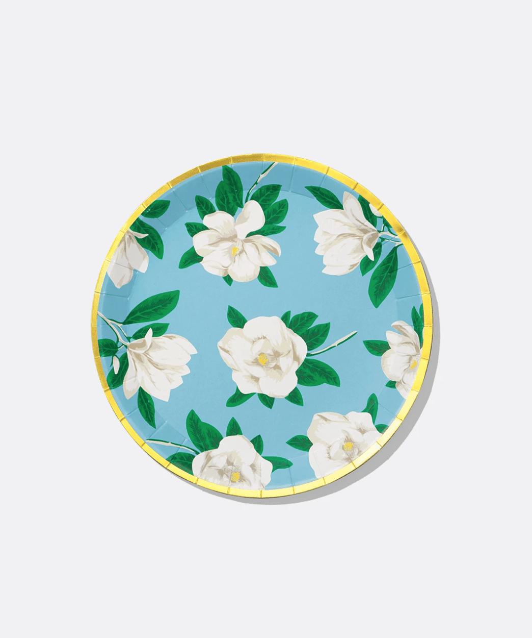 Magnolia paper plate