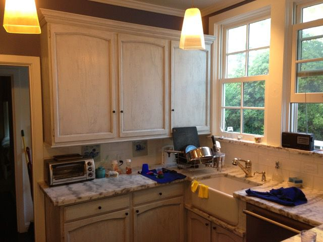 makeover of the week before photo - dark and dated kitchen