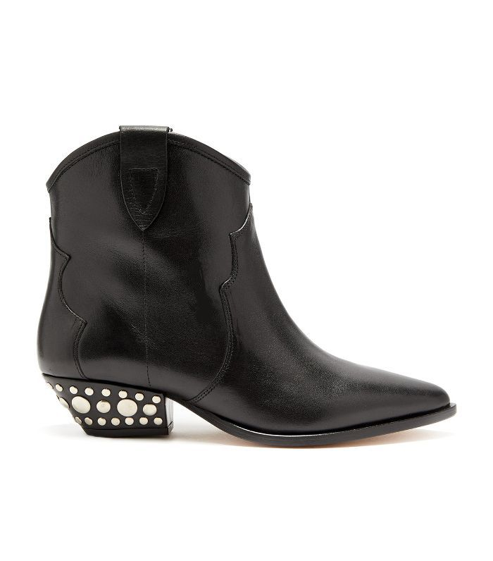 Dawyna Western leather ankle boot