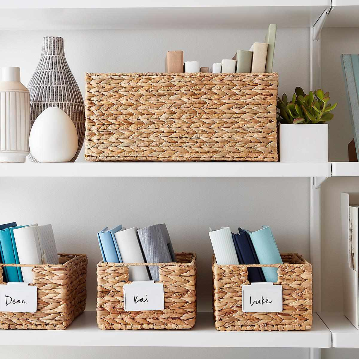 A woven basket, currently for sale at the Container Store