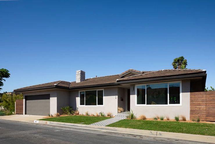 Quaint gray bungalow style home.