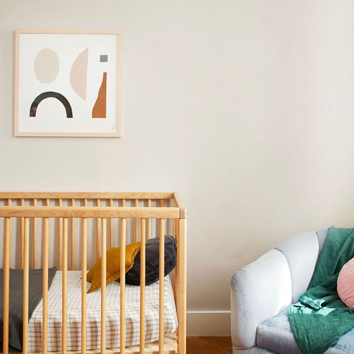 a calming, modern kid's room