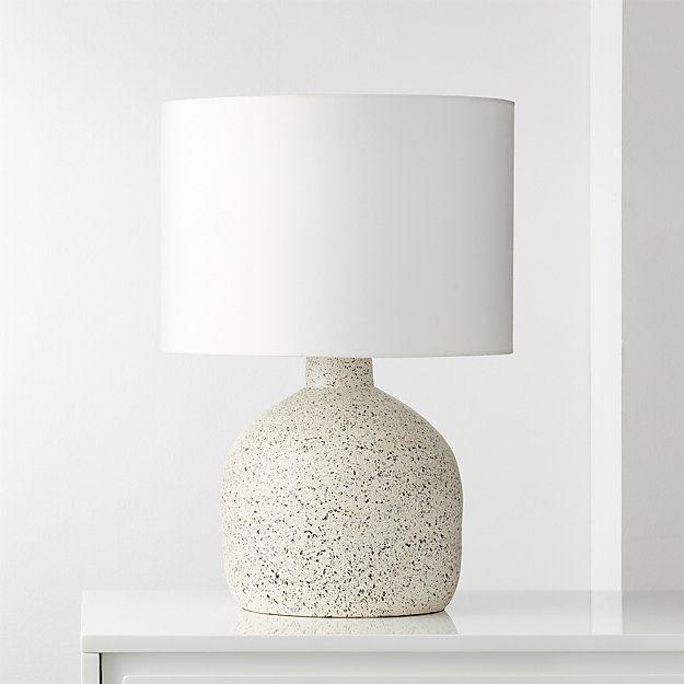 CB2 Largo Speckled White Ceramic Table Lamp