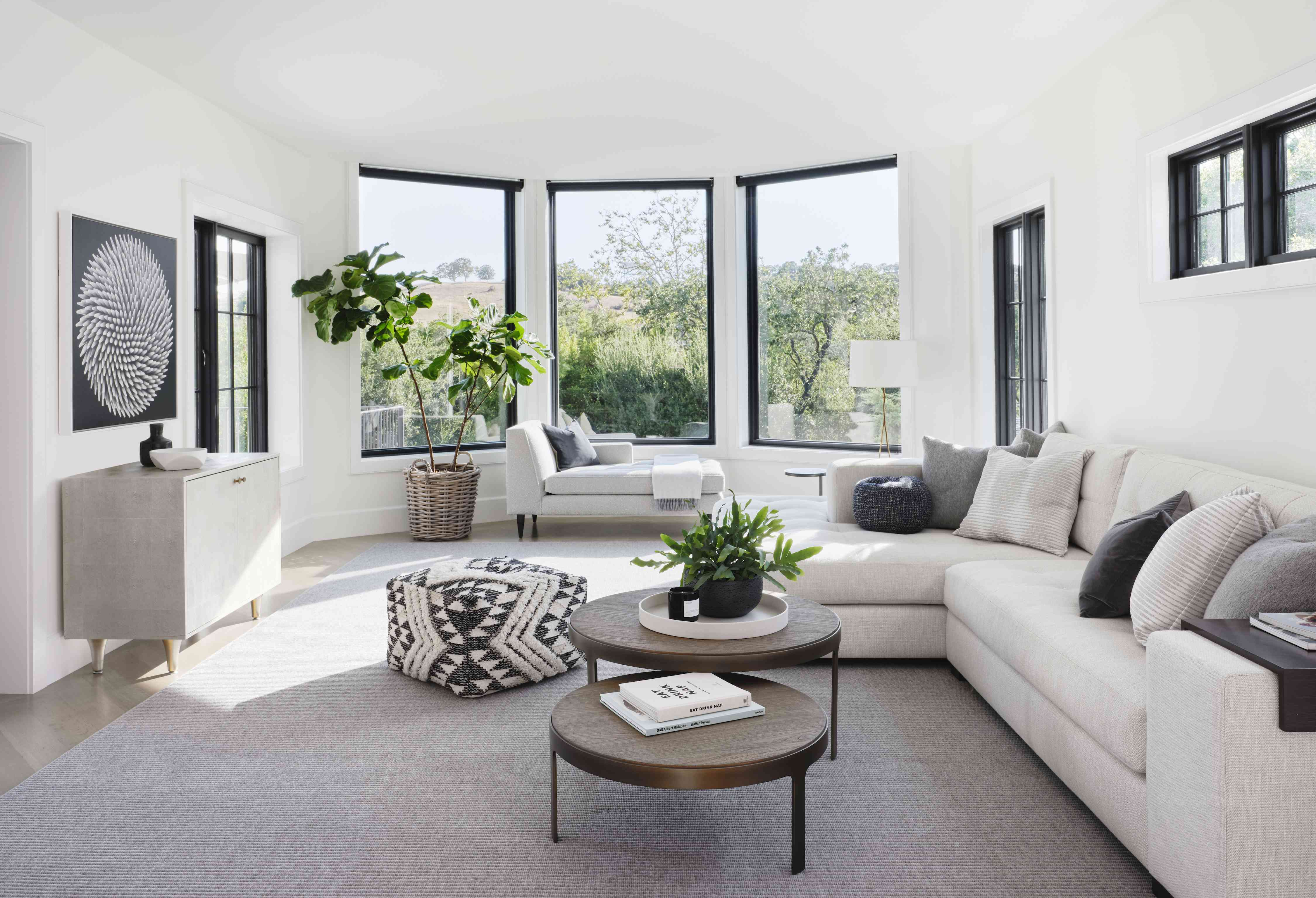 sectional white couch living room