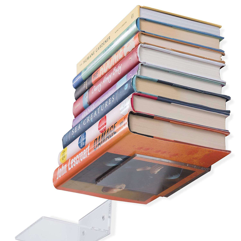 clear book ledge