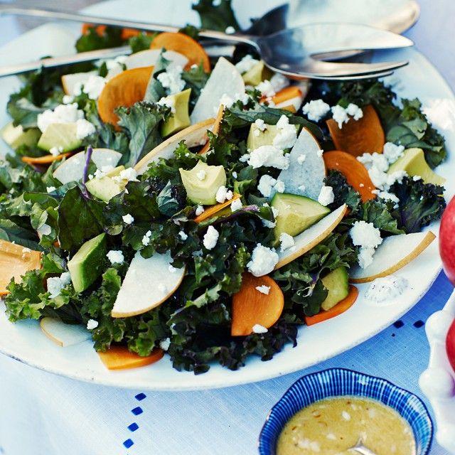 arugula salad with persimmons