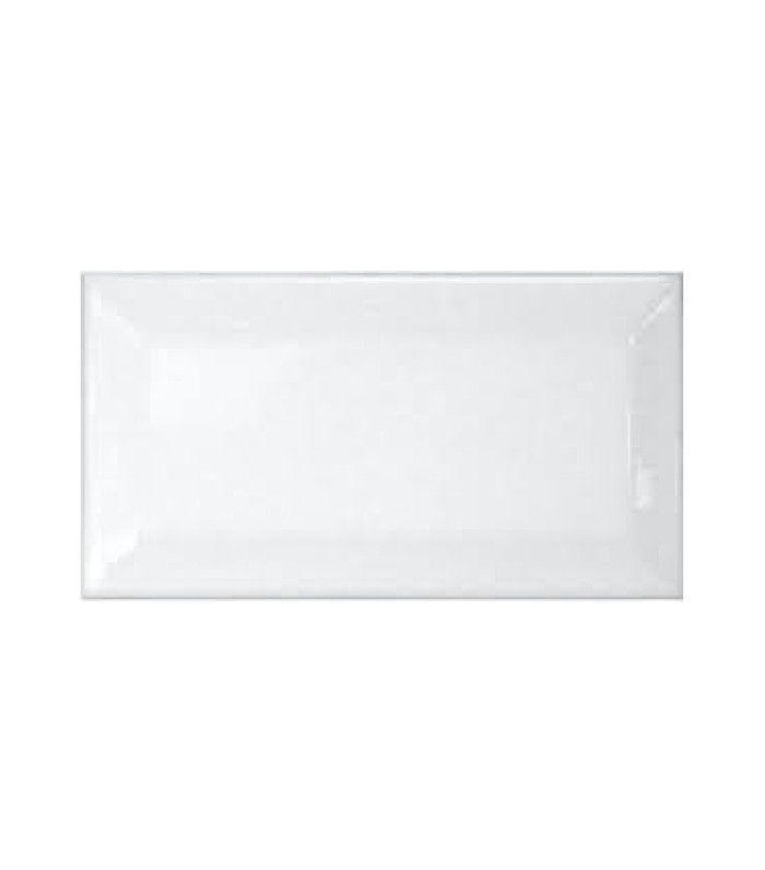 Bridgewater Beveled Subway Whisper White Gloss Ceramic Tile
