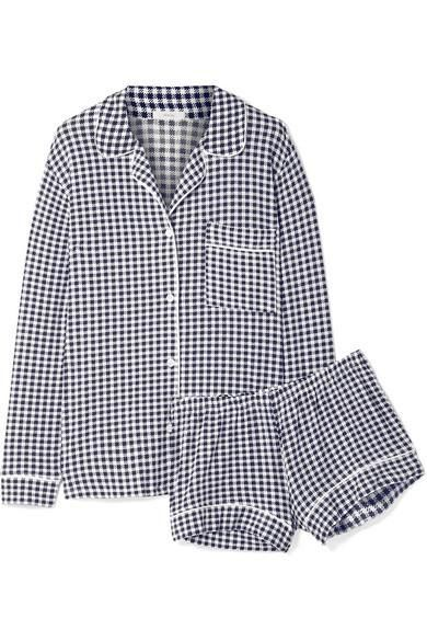 Eberjey Bettina Sleep Chic Gingham Stretch-modal Jersey Pajama Set