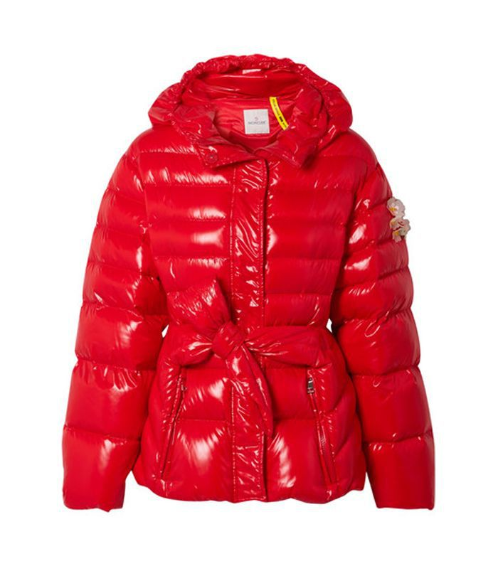 4 Simone Rocha Embellished Belted Glossed-shell Down Jacket