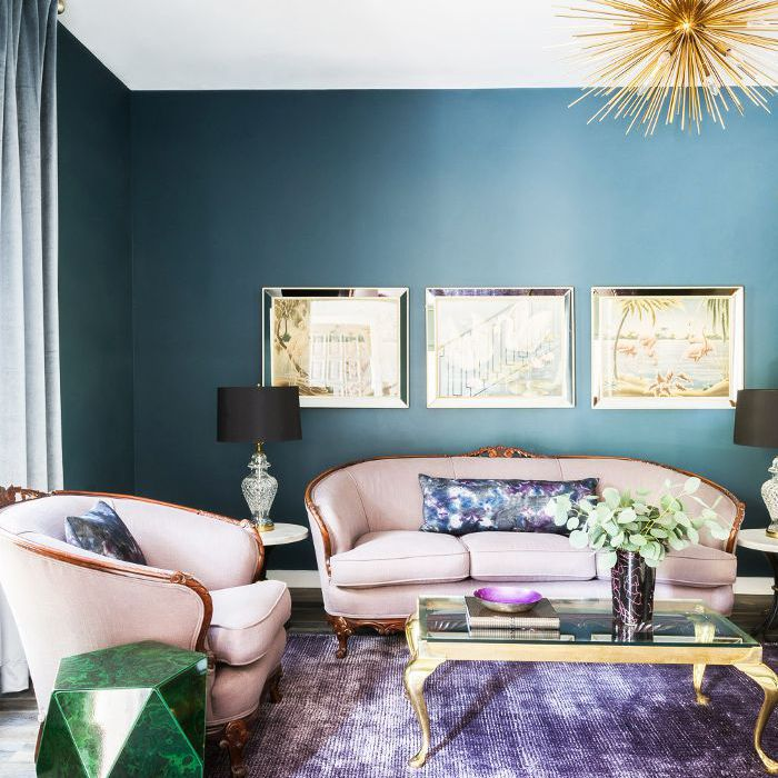 A color rich home that will brighten your day - Jewel tone living room ...