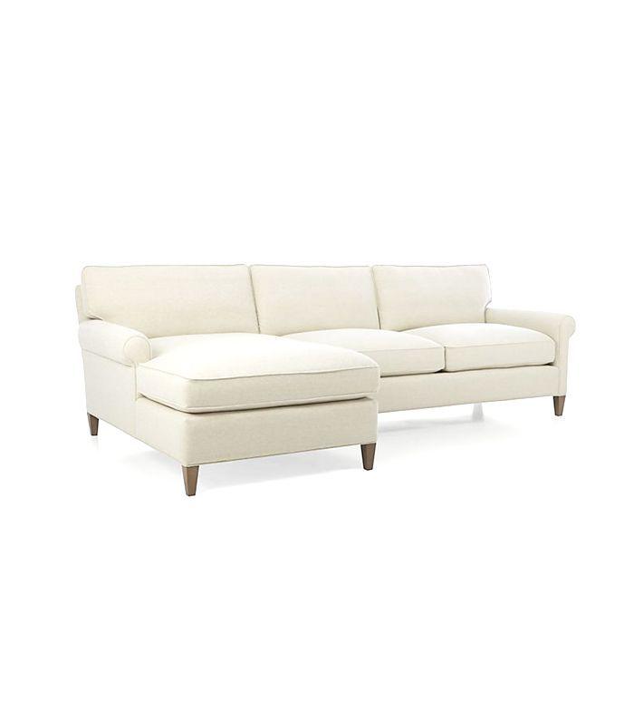 Crate and Barrel Montclair 2-Piece Sectional Sofa