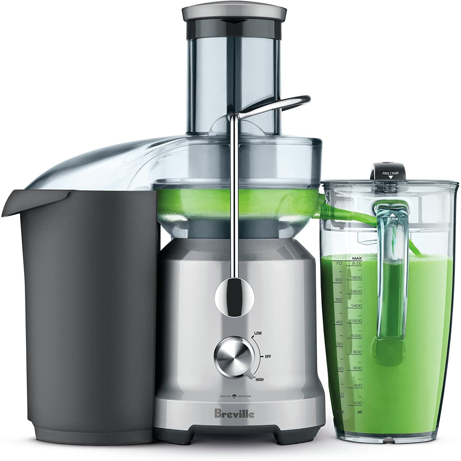 Breville BJE430SIL Juice Fountain Cold Centrifugal Juicer, Silver