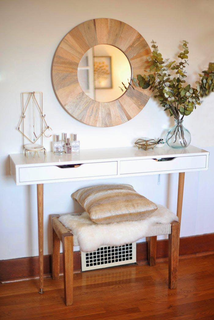 Ikea Ekby Alex shelf reimagined as modern vanity with tapered legs