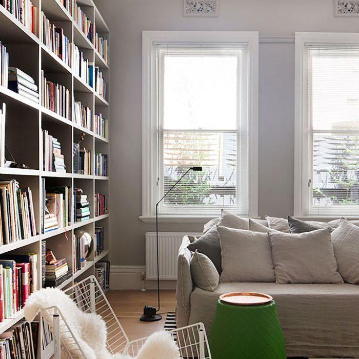 Cozy Home Ideas: A faux-fur throw draped on a white accent chair