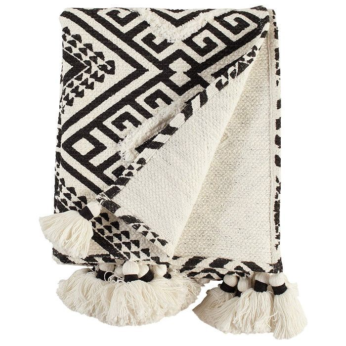 Rivet High Contrast Global Geometric Throw Blanket
