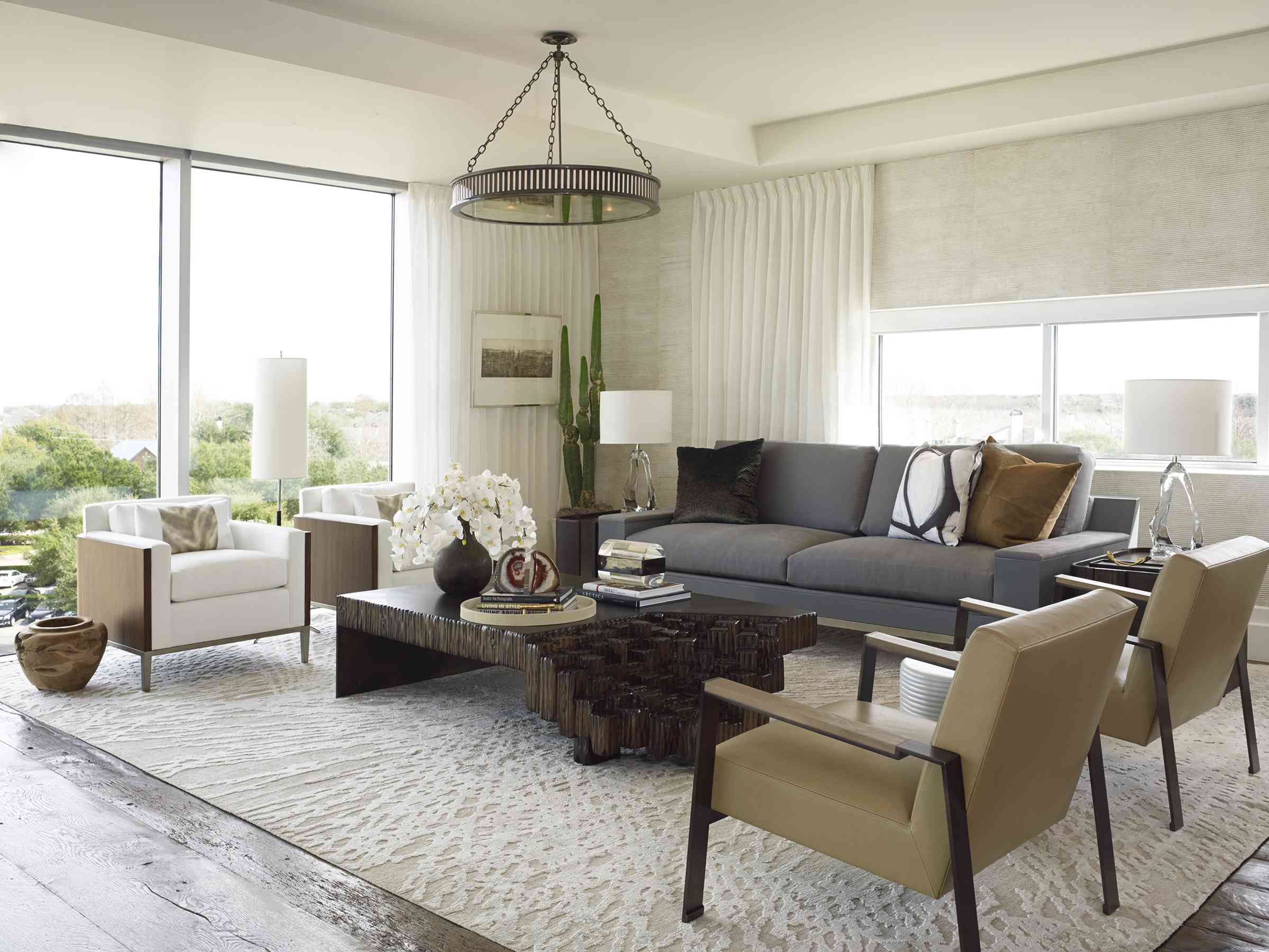 Living room with functional furniture.