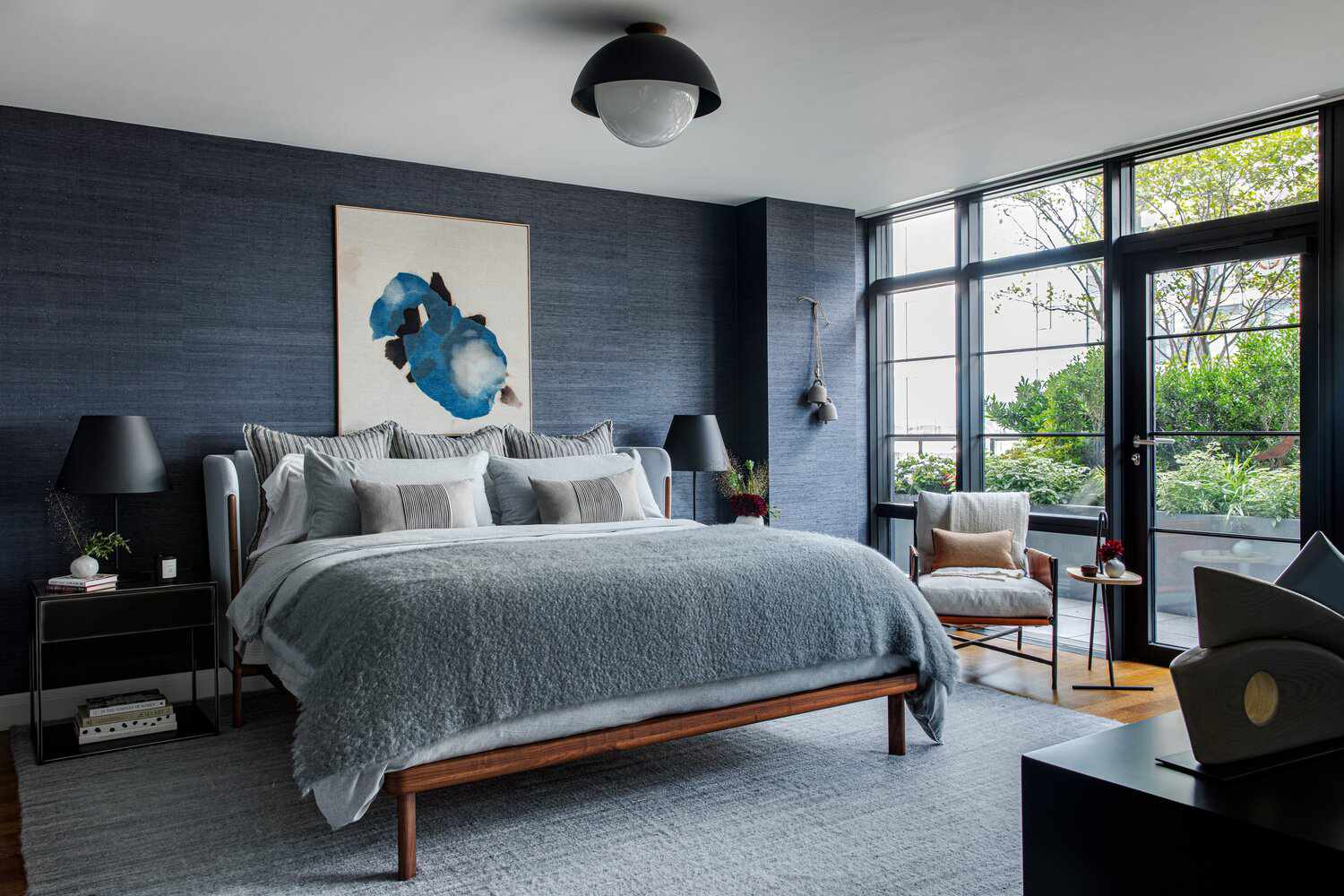 makeover of the week - Becky Shea NYC blue bedroom