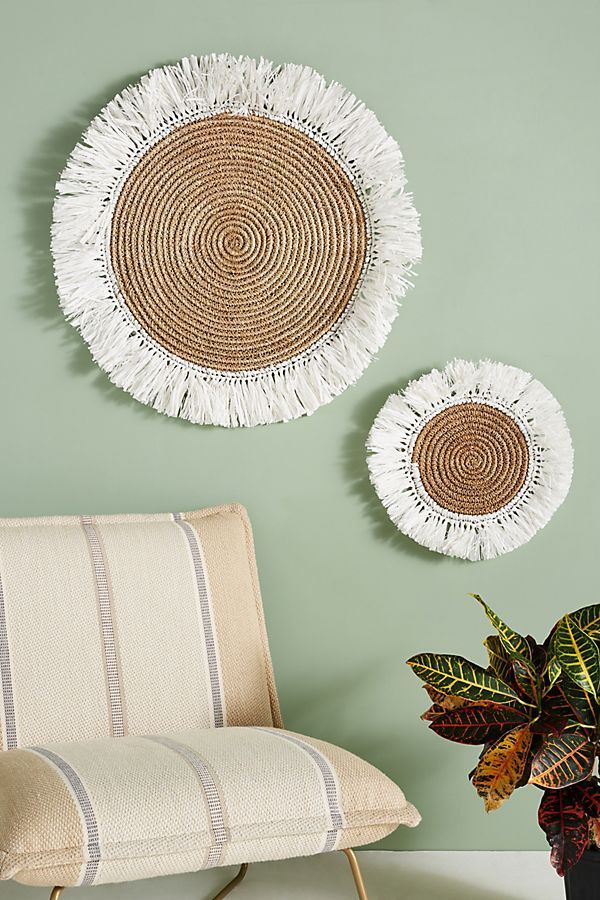 Fringed Basket Wall Art