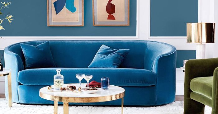 Found The Best 11 Blue Velvet Sofas Our Editors Love