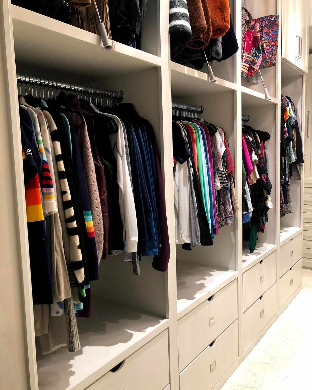 Closet with built-in storage