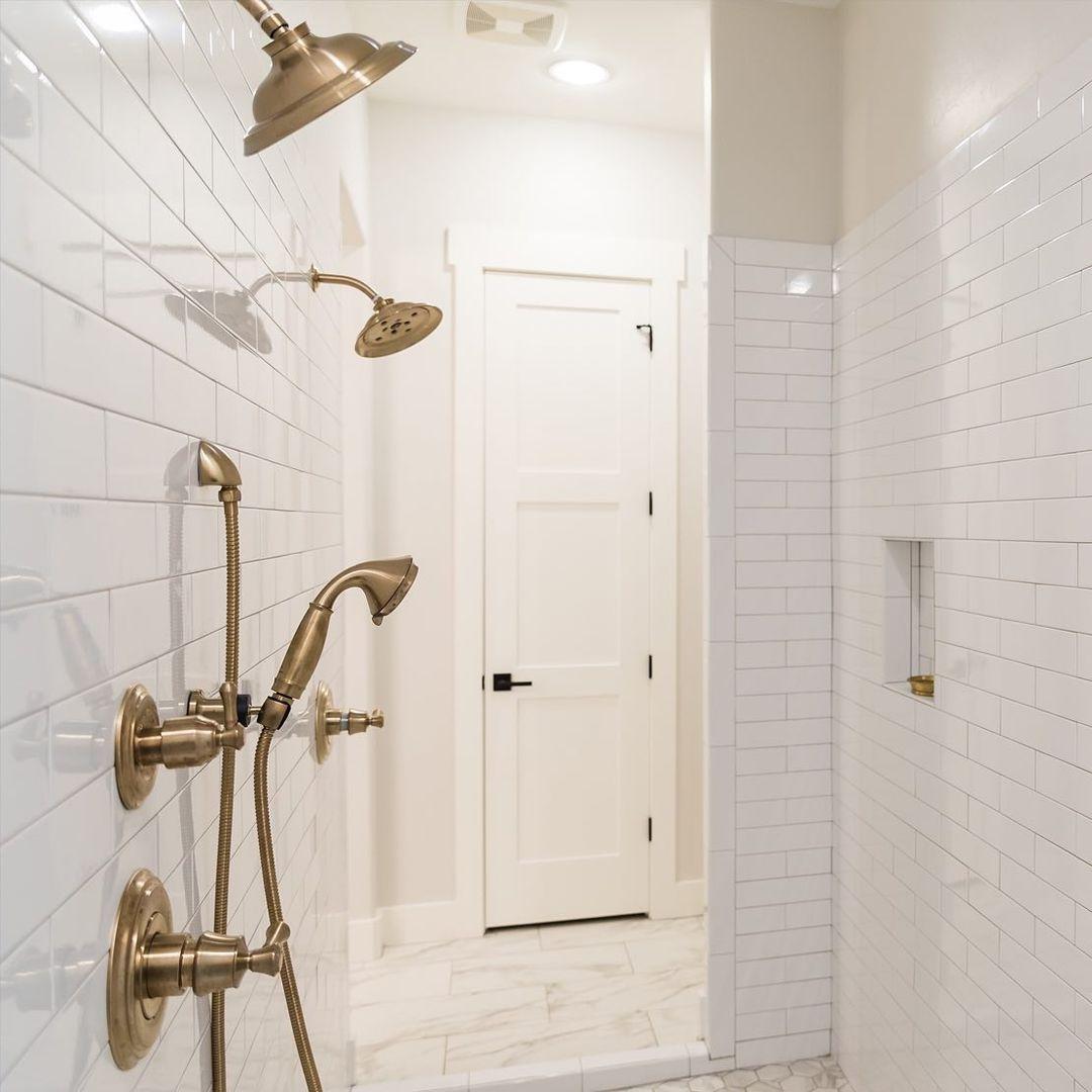 Brass shower bathroom