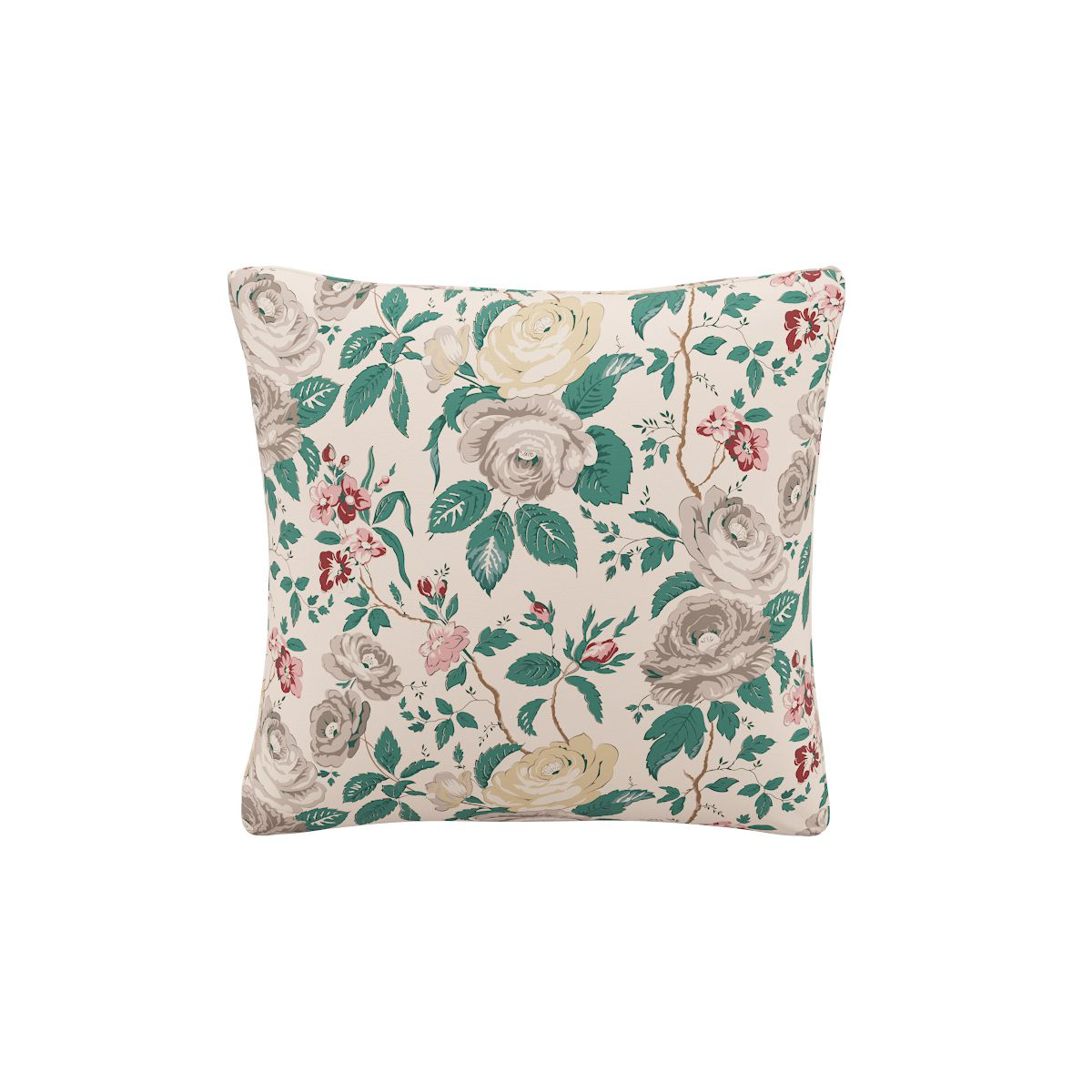 Throw Pillow in Taupe Chintz