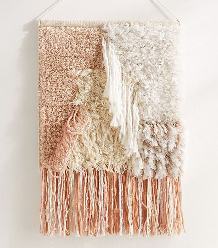 Talla Textured Wall Hanging - Pink One Size at Urban Outfitters