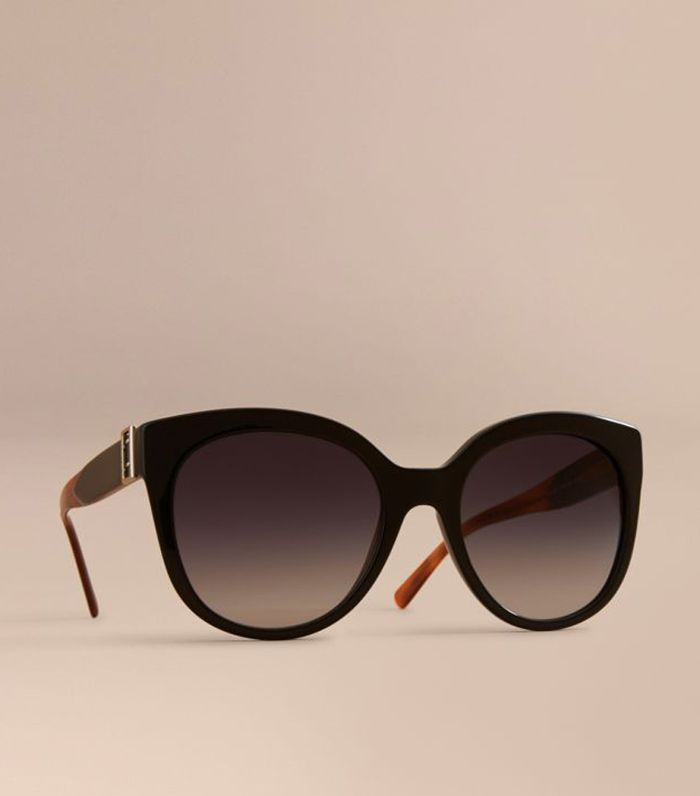 Burberry Buckle Detail Cat-Eye Frame Sunglasses