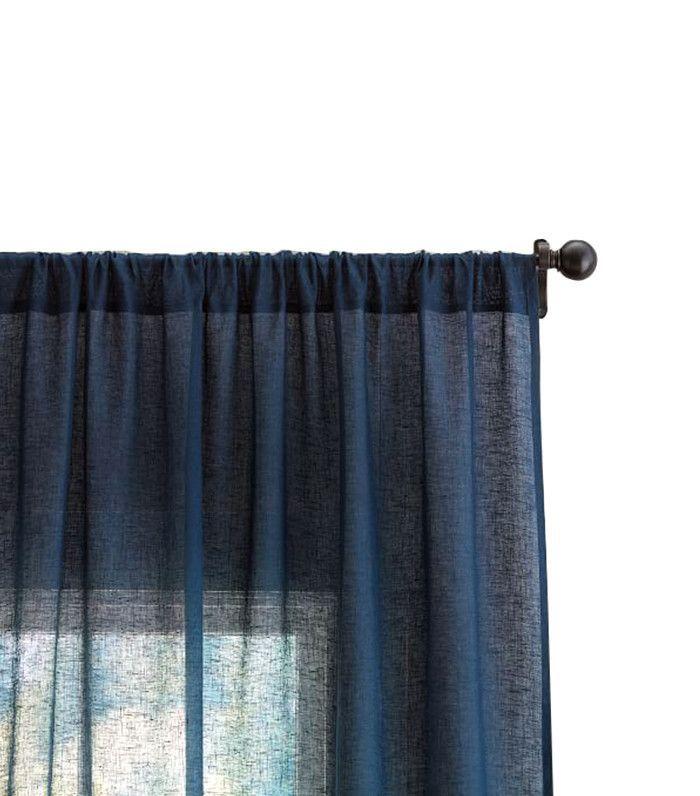 Linen curtains — simple living room ideas
