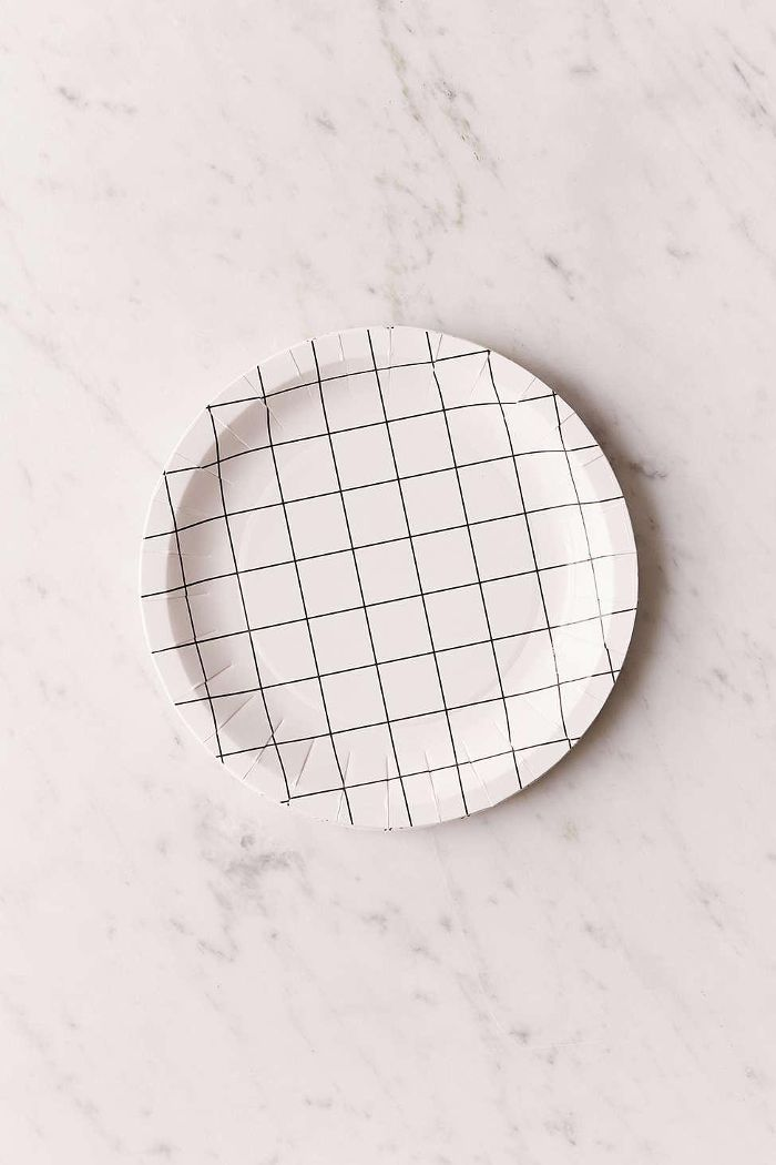 Grid Mini Paper Plate Set