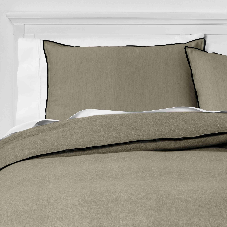 heathered flannel bedding