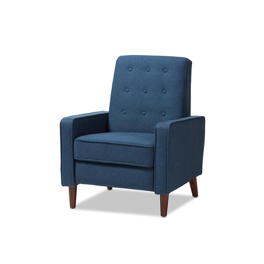product description page Mathias Mid - Century Modern Fabric Upholstered Lounge Chair - Baxton Studio