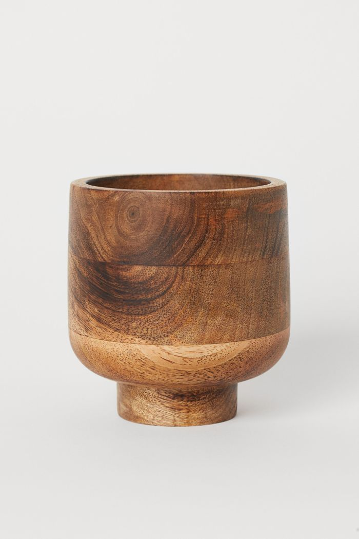 H&M Wooden Plant Pot