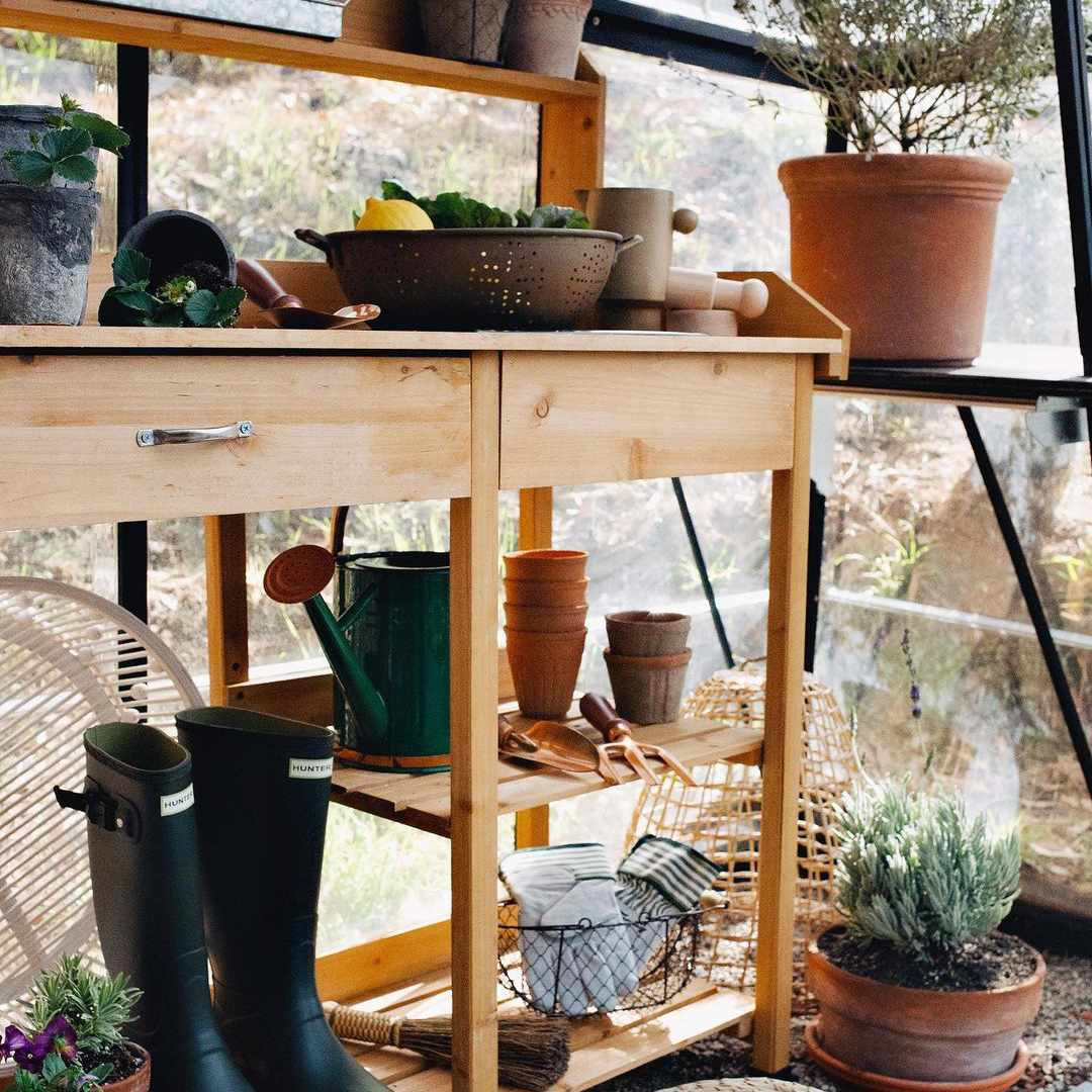 Potting stand for plants