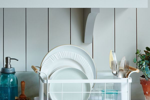 Yamazaki Wood-Handled Dish Rack