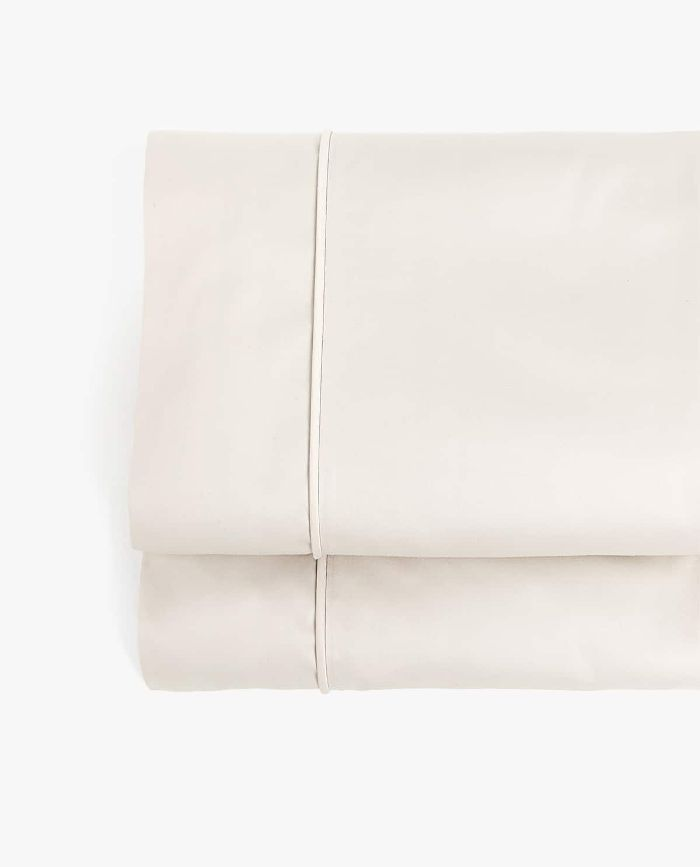 Zara Home Satin Flat Sheet with Piping