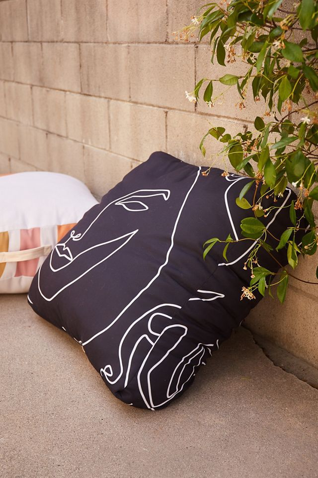 Urban Outfitters Explicit Design For Deny Faces In Dark Outdoor Floor Cushion