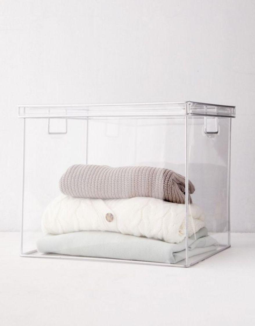 transparent sweater storage box