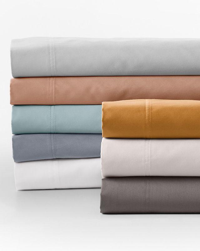 Garnet Hill Wrinkle-Resistant Solid Sateen Bedding