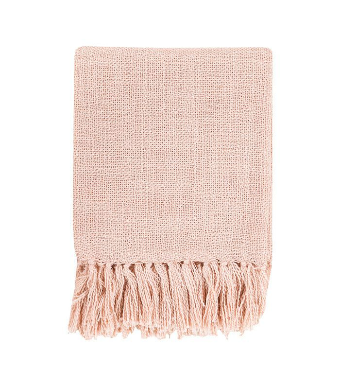 Surya Tilda Pale Pink Throw Blanket