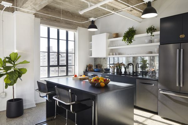 Kitchen with spotlights.