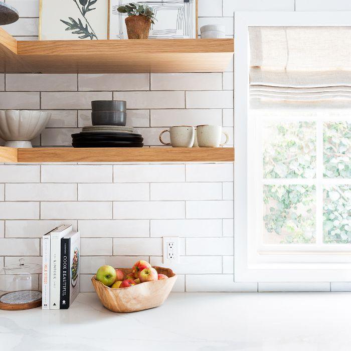 Open shelves design
