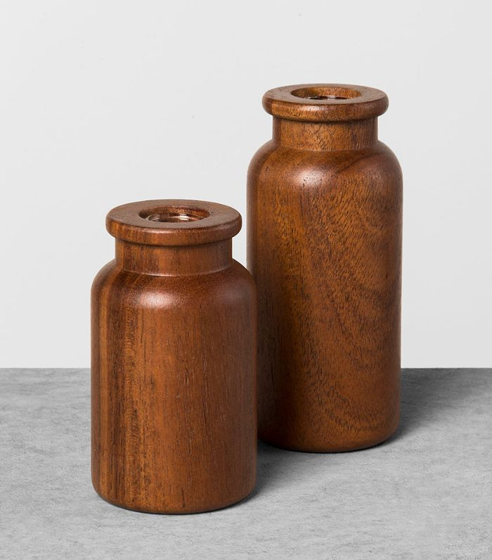Hearth & Hand with Magnolia Wood But Vases, Set of 2