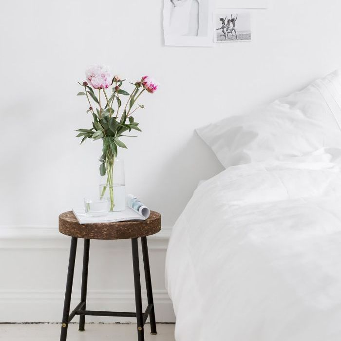 IKEA stool—Nightstand Ideas
