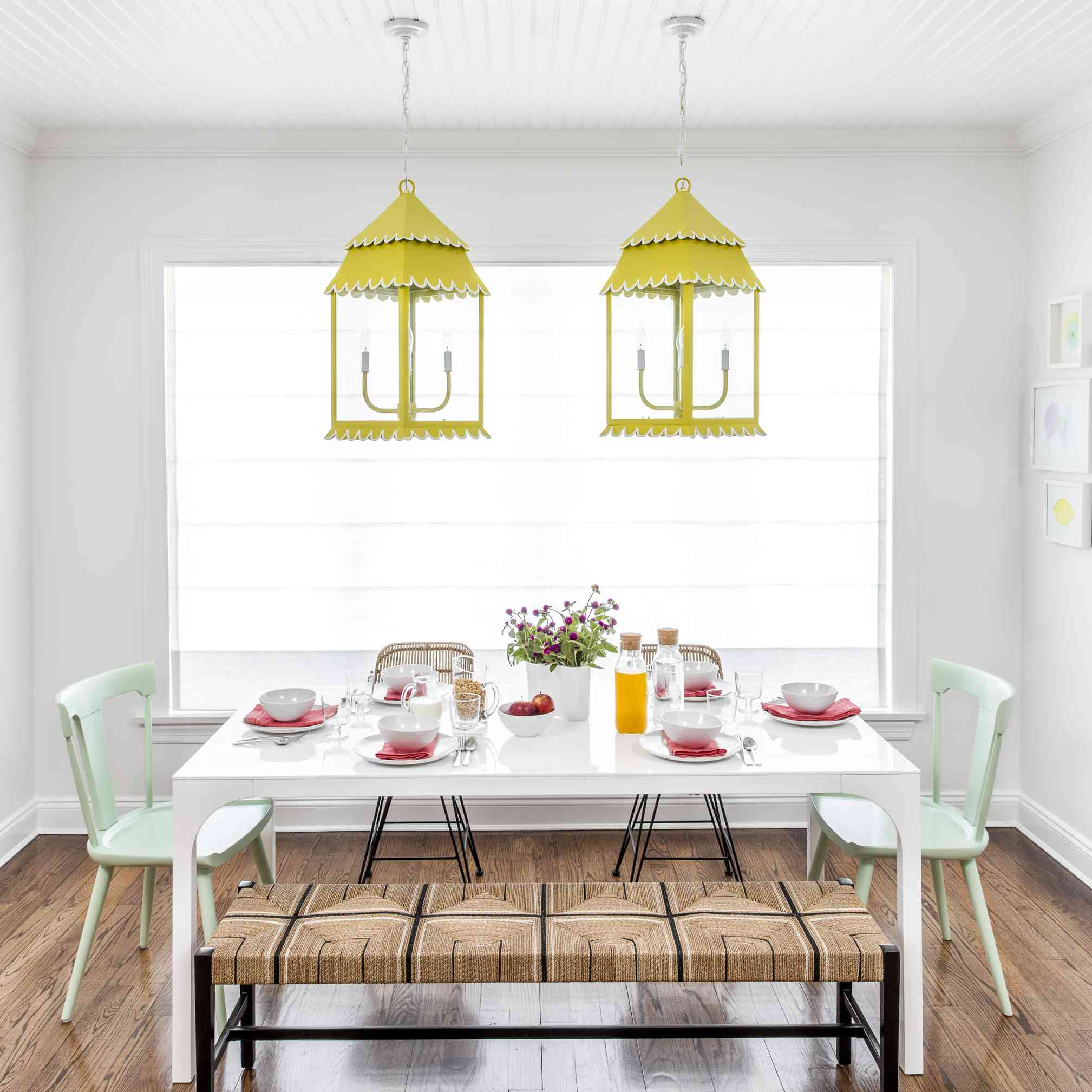 chartreuse dining room